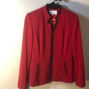 🌹Liz Claiborne Red Long Sleeve Suit Blazer